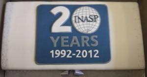 INASP 20th Anniversary cake