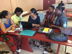 Lively discussions between female academics during the workshop at the University of Dodoma.