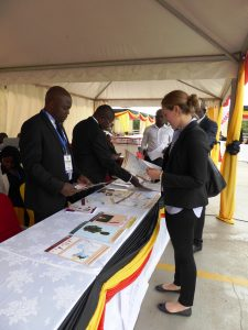 Parliament of Uganda Research Department displays evidence products at its stand