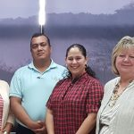 INASP associate Dianne Miles with representatives from INASP's consortium partner, Aurea, Honduras.