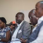 John Mugabi Bagonza, Director of the Department of Research Services at Parliament of Uganda, shares the Department's model with VakaYiko colleagues from Ghana and Zimbabwe at the 2016 VakaYiko Symposium in Accra