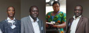 Photo: Participants in the Parliament Learning Exchange (Left to right) - Mohammed Hardi Nyagsi, Parliament of Ghana; John Mugabi Bagonza, Parliament of Uganda, Christina Mafoko, Director of Research, Parliament of Zimbabwe; Abrahan Ibn Zackaria, Parliament of Ghana.