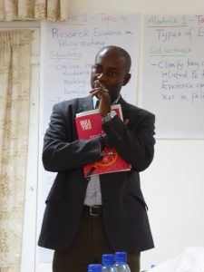 Dr. Patrick Tandoh, lead facilitator from GIMPA