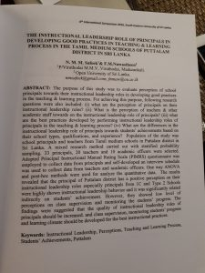 Paper in English by a Sri Lankan researcher.