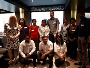 Image of participants at researcher roundtable in Sri Lanka.