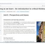 Critical thinking course screenshot.
