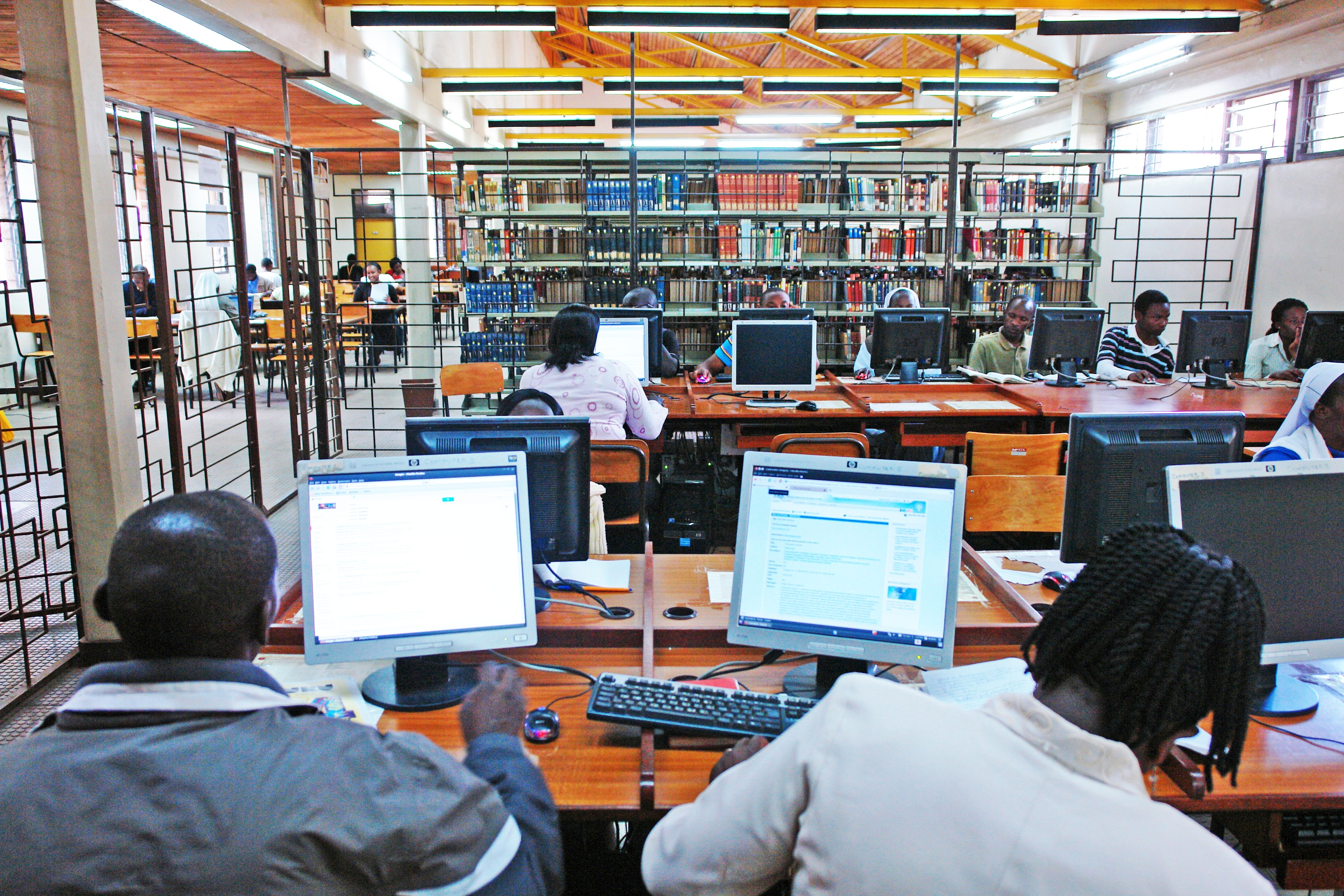 University library in Kenya.