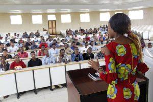 Students in University of Dodoma.