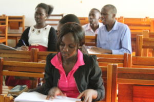 Students at Uganda Martyrs University.