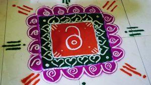 Rangoli picture representing open access.