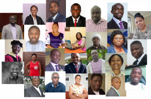 Headshots of people who shared stories for Digital Universities Africa project,